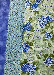 "Quilt, Sew, Fabric Kit DASH 44"" x 58"" - Northcott Nantucket Hydrangea"