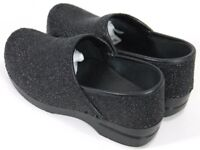 Dansko Womens $120 Professional Nursing Clog Size EU 38 US 7.5-8  Black Textured