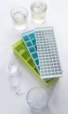 Kikkerland Set Of 3 Stackable Ice Trays Drink Small Medium & Large Ice Cube Tray