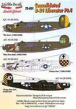Lifelike Decals 1/72 CONSOLIDATED B-24 LIBERATOR Bomber Part 4