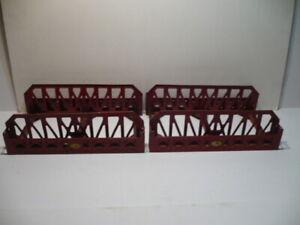 (2) LIONEL PREWAR #270 RED METAL BRIDGES