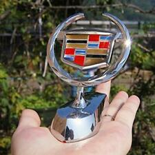 3D Chrome Metal Decal Hood Stand Ornament Sticker Emblem Badge for Cadillac