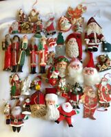 40 Classic Santa Claus Christmas Ornaments  - All Santa