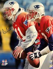 0c5868230 Tom Brady Drew Bledsoe New England Patriots Dual Signed 16x20 Photo TRISTAR