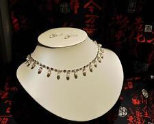 Freshwater Pearl necklace earring set Swarvoski elements Bridal Wedding