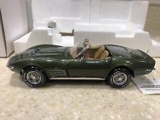 """New Listing""""Donnybrooke Green"""" 1970 Lt-1 Corvette Conv/Hardtop #420/500 Franklin Mint 1:24"""