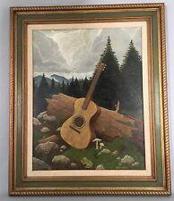 Gilbert Williams Original Oil Painting - Mountain Music - 30x36 Framed - 1970