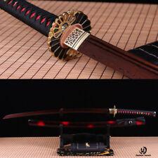 40.6'' UNOKUBI-ZUKURI RED FOLDED STEEL BLADE JAPANESE KATANA SWORD FULL TANG.
