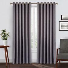 Par de cortinas color negro apagón en Relieve Gris Moderno Con 2 amarre para libre para la sala de estar