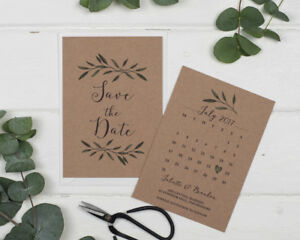 Rustic Woodland Save the Date Cards