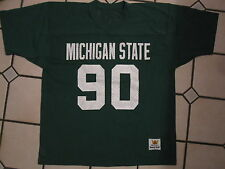 Vtg Retro MacGregor Sand-Knit Michigan State Spartans Football Jersey MEDIUM 44