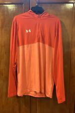 $50 Under Armour Tech 1/4 Hoodie Shirt Sweatshirt Men's Size XL Red 1287617 NWT