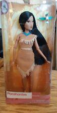 "Disney Store Classic Pocahontas Doll with Flit 12"" NIB"