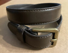 NWT Boys Brown Belt~Size XS/Size 4-7~Bronze Colored Buckle