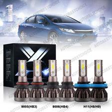 6Pcs Combo 9005 9006 H11 Led Headlight Fog Light Bulbs Kit 6000K White 240W Cree