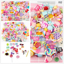 30pcs Colorful Slime Beads Resin Candy Flatbacks Scrapbooking Charms DIY Crafts