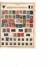 FRANCE album  PAGE COLLECTION LOT 113 stamps used  (mb15