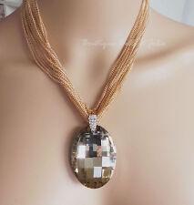 Modeschmuck-Halsketten & -Anhänger im Collier-Stil aus Perlen mit Strass