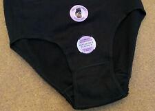 3er Damen Slips Cotton Stretch Taillenslip schwarz 48 50 xL hoher Leib Unterhose