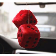 Home Decor Hanging Large Fuzzy Fluffy Dice Car Hanging Ornaments Furry Toy Gifts