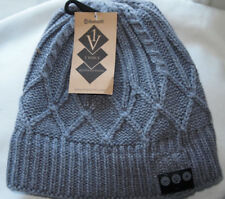 1 Voice Bluetooth Knit Beanie Hat with Built In Wireless Speakers 1V-V3_01 Grey