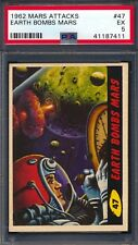 1962 Mars Attacks — Earth Bombs Mars #47 — PSA 5