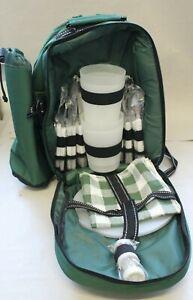 Picknick - Rucksack 4 Personen grün