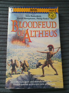 FIGHTING FANTASY BOOK CRETAN CHRONICLES 1 BLOODFEUD OF ALTHEUS GOOD NICE A SHEET