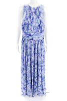 Badgley Mischka Womens Water Lilies Maxi Dress Lavender Green Size 20 11088678