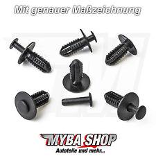 10 x casa las conchas rueda clips esparcidor Niete para Mercedes-Benz en negro | A1249900492