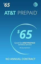 AT&T $65 Prepaid Monthly Calling Plan With 1 Month Service Included