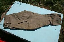 vêtement ancien pantalon grosse toile velours Début XX ème chasse avec guêtres