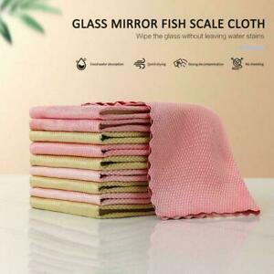 5X Special Fish Scale Wipe Rags For Glass Houseworks Clothes Cleaning K2R7