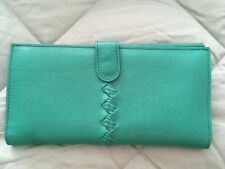 EUC Authentic Bottega Veneta Turquoise Continental Leather wallet