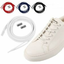1Pair Lazy No Tie Round Elastic Shoe Laces w/ Buckle For Kids and Adult Sneakers