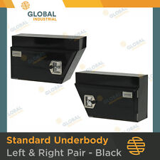 1 x NEW Pair of Black Underbody Under Tray Steel Ute Trade Workman Tool Boxes