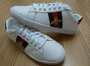 Genuine Mens Gucci Ace Bee Trainers Size UK 10