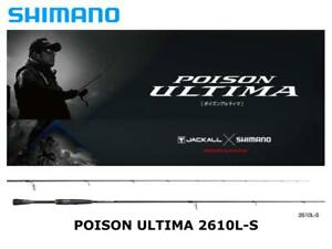 Shimano Poison Ultima spinning 2610L-S Long Shooting Solid spinning rod