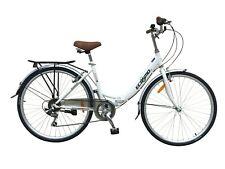 "Ecosmo 26"" Wheels Folding Ladies Women City Bicycle Bike 7 SP, 17"" -26ALF08W"