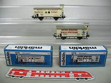AG125-0,5# 2x Märklin/Hamo H0/DC Bierwagen: 8478 Wulle+8477, K.W.St.E., TOP+OVP