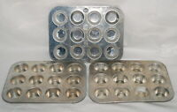 Vintage Aluminum Mini Muffin Pans Baking Dish Lot Cupcake Chilton Wear Ever 602