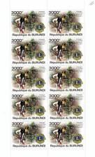 LIONS CLUBS INTERNATIONAL Humanitarian Charity Stamp Sheet (2011 Burundi)