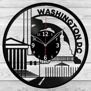 Vinyl Clock Washington Vinyl Record Wall Clock Home Art Decor Handmade 5987