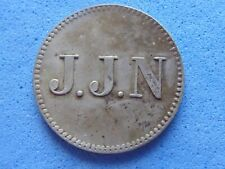 More details for 780) curacao token j.j.n (naar) 1 stuiver c.1880 £30.00 uk post paid