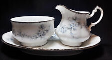 Paragon Bride's Choice (Elizabeth)  Mini Creamer & open Sugar Bowl with tray