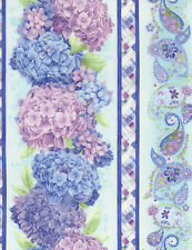 Timeless Treasures 11″ Hydrangea Stripe Harmony 100% cotton fabric by the yard