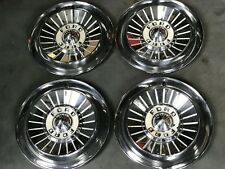 """1957 Ford Fairlane Hubcaps Wheel Covers 14"""" Factory Set of 4 #FD57WC"""