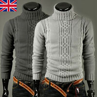 Mens Winter Warm Knitted Knitwear Sweater Jumpers Cardigans Chunky Pullover Tops