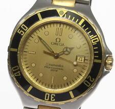 OMEGA Seamaster Professional 200M Gold dial Quartz 36mm Men's Watch_348859