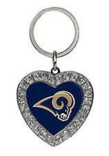 Los angeles rams brillo corazón key Chain